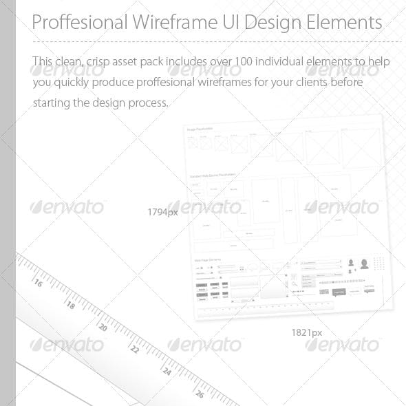Proffesional UI Wireframing Elements