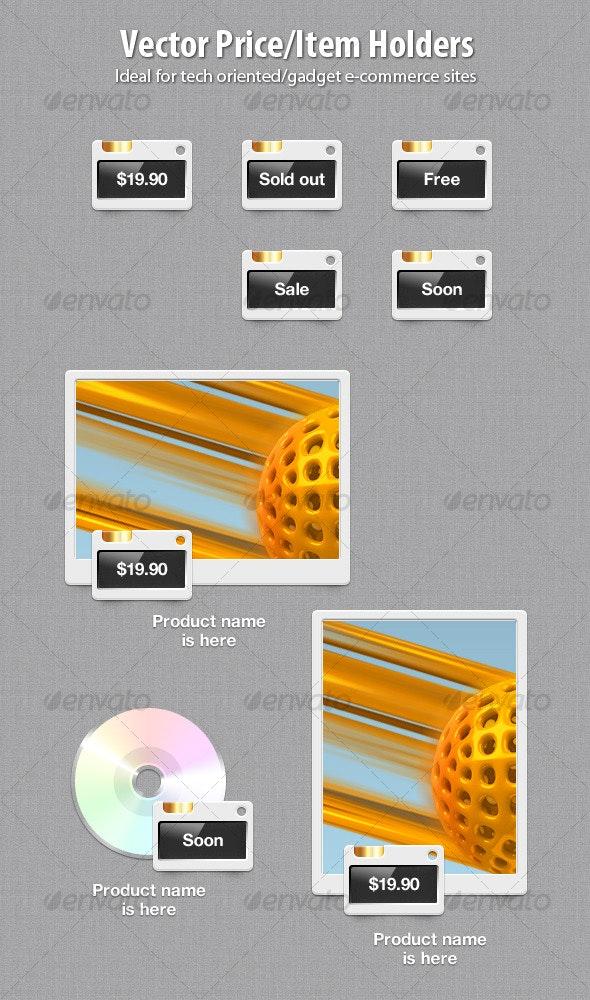 Vector Price/Item Holders - Miscellaneous Web Elements