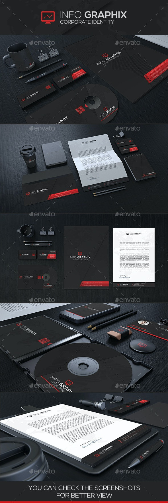 InfoGraphix Corporate Idenity - Stationery Print Templates