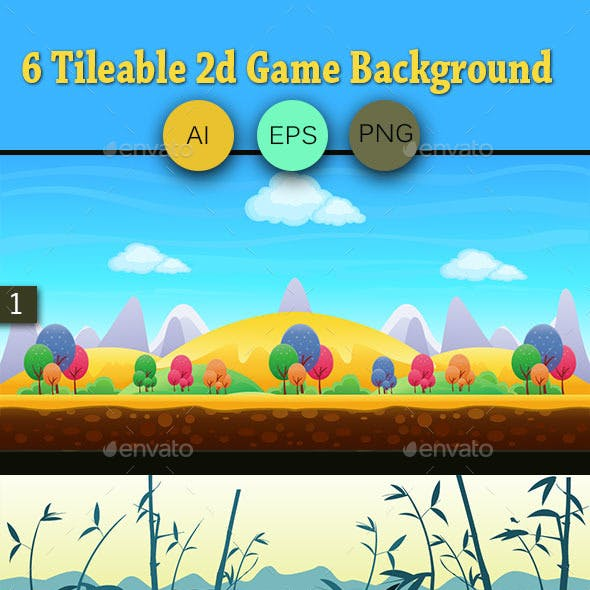 6 Tileable 2d Game Background