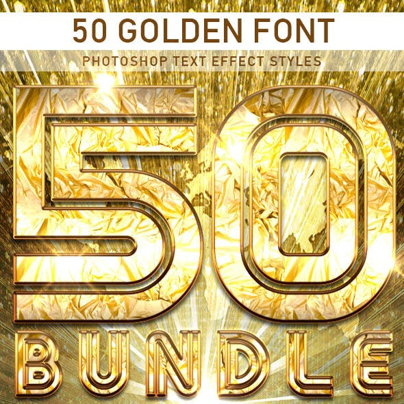 50 Golden Font_Bundle