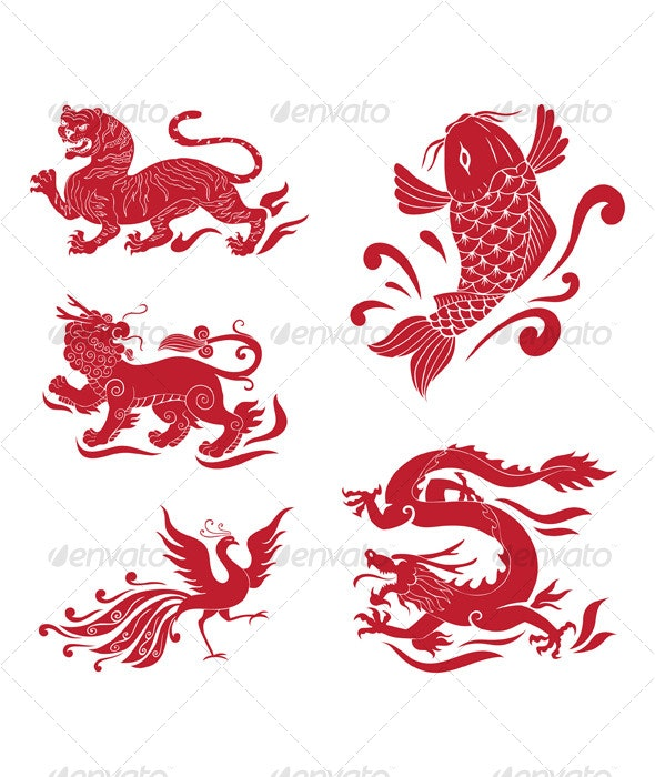Asian designs - Animals Characters