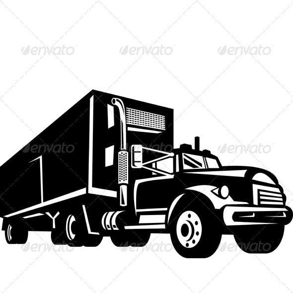 Container Van Truck