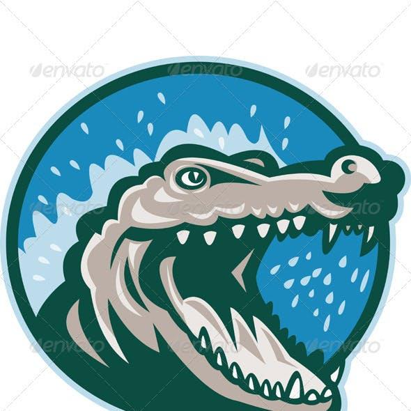 Snapping Crocodile Head Mascot