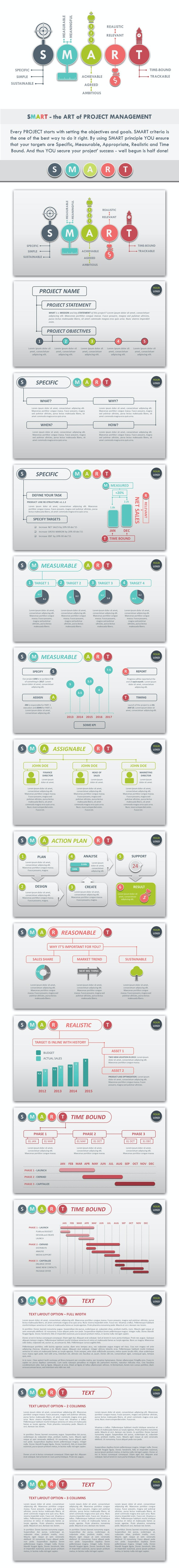 SMART001 Project Management PowerPoint Template - Business PowerPoint Templates