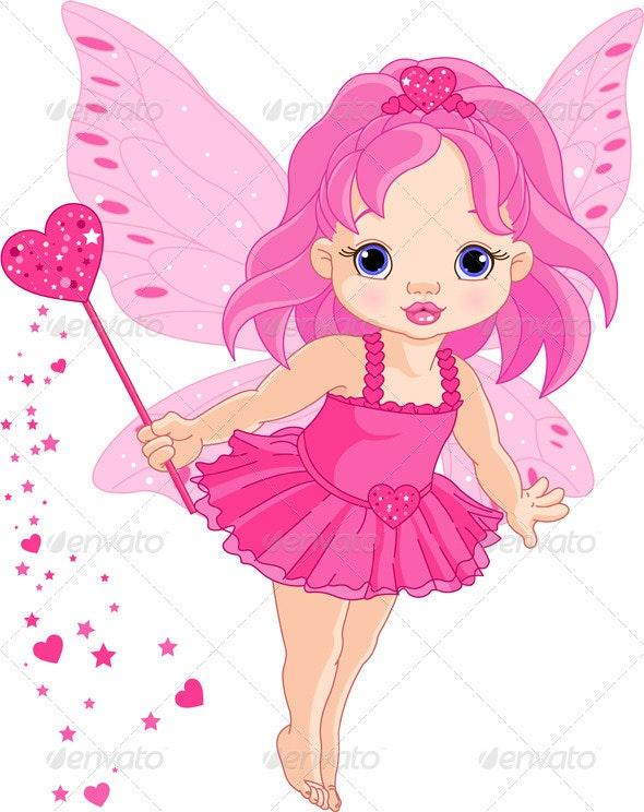 Cute little baby Love fairy - Valentines Seasons/Holidays