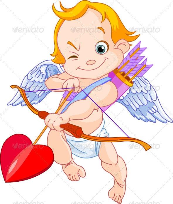 Valentines  Cupid - Characters Vectors