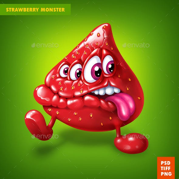 Berry strawberry Monster