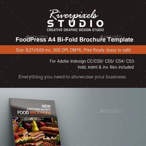 FoodPress BiFold Brochure Template