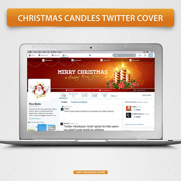 Christmas Candles Twitter Cover