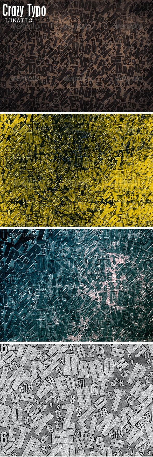 Crazy Characters - Abstract Textures