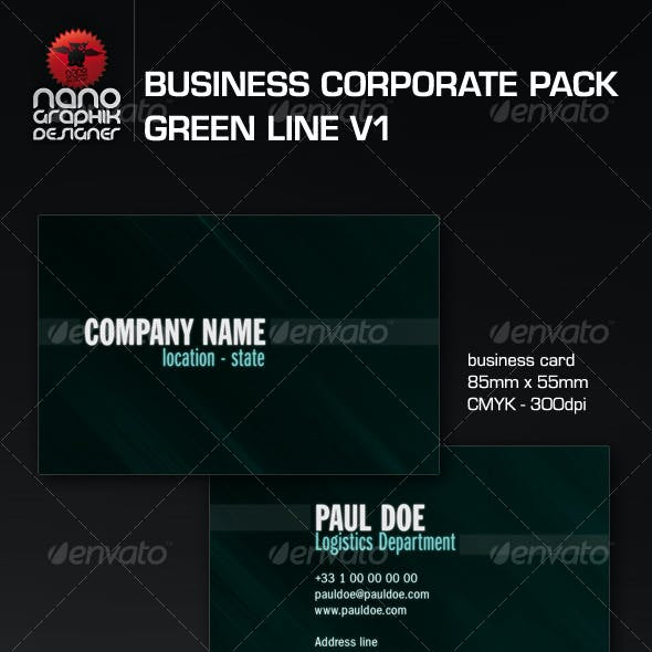 business corporate pack green line