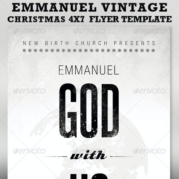 Emmanuel Christmas Church Flyer Template