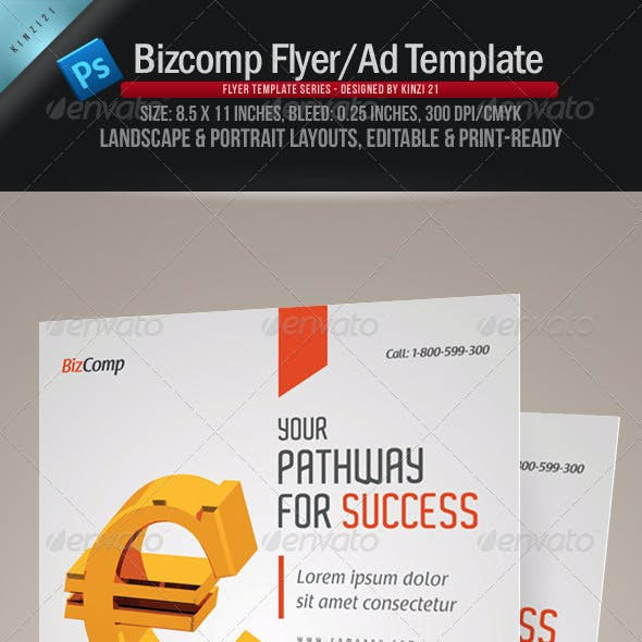 Bizcomp Flyer or Ad Template