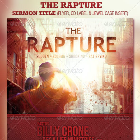 The Rapture Church Flyer and CD Template