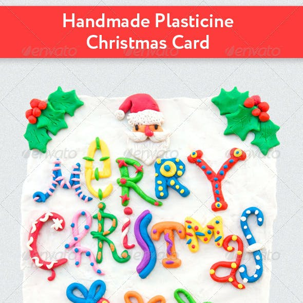 Handmade Plasticine Christmas Card
