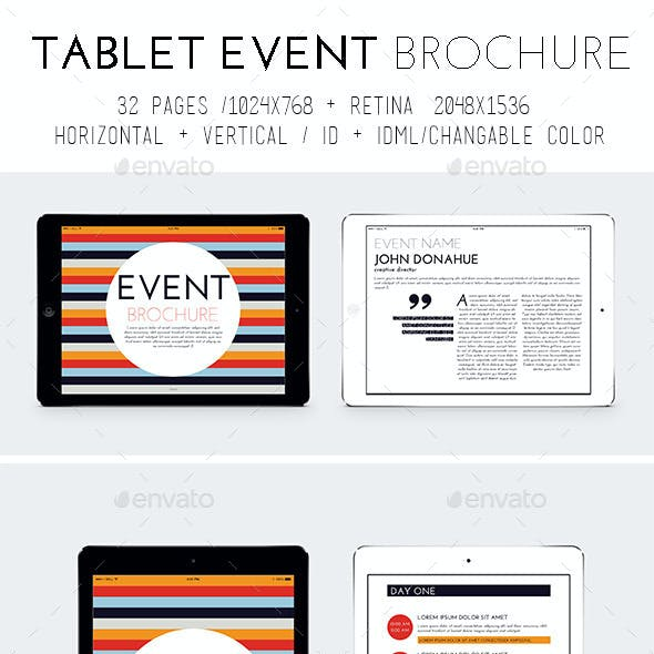 iPad & Tablet Event Template