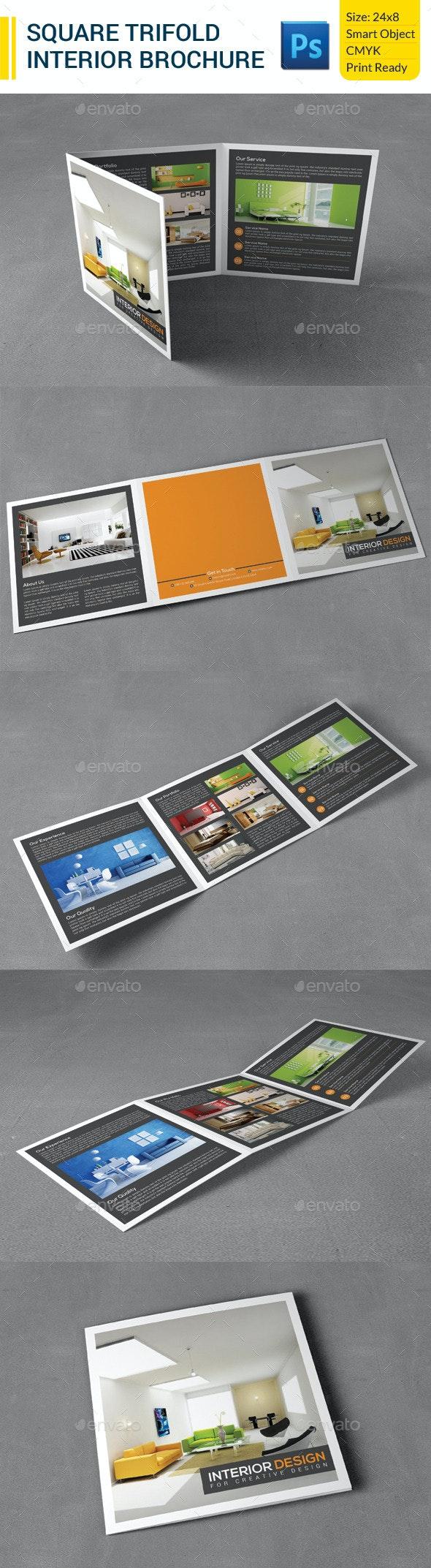 Square Trifold Interior Brochure - Corporate Brochures