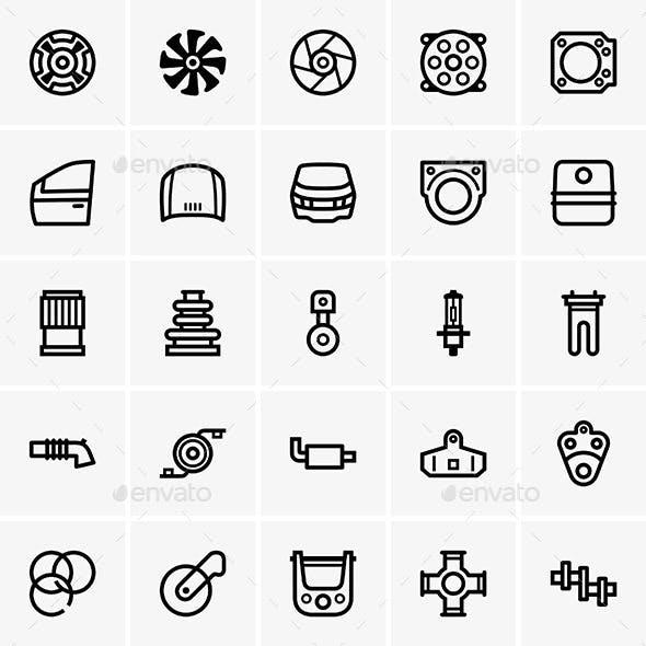 Car Part Icons