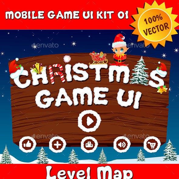 Christmas Mobile Game UI Kit 01