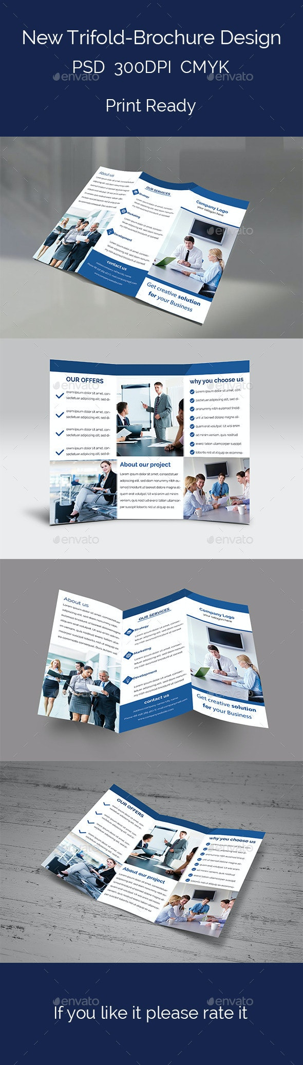 New Trifold-Brochure Design - Brochures Print Templates