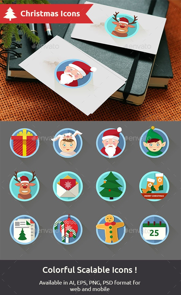Christmas Illustrated Icons