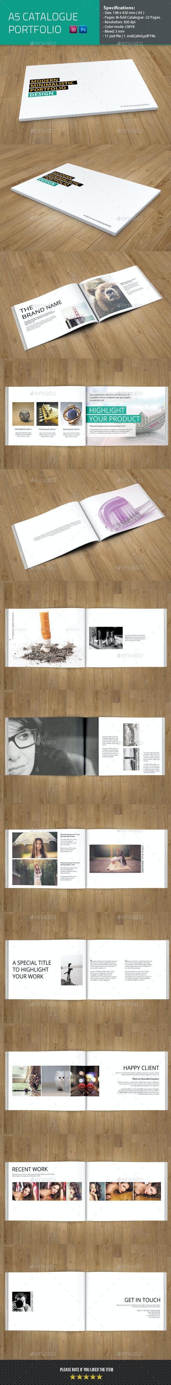 Minimal Portfolio Catelog Template - Catalogs Brochures