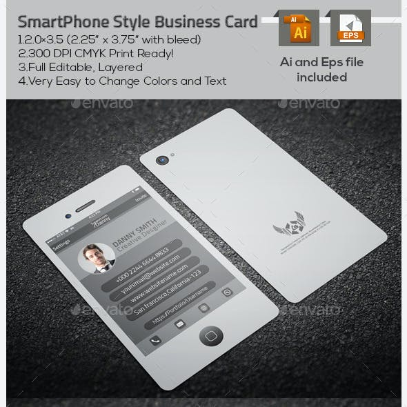 SmartPhone Style Business Card
