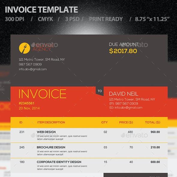 Invoice Template PSD