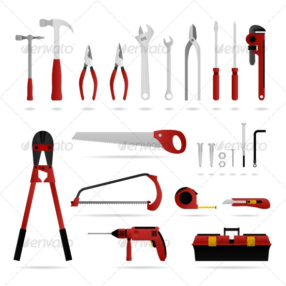 Hardware Tool Set Vector - Man-made Objects Objects
