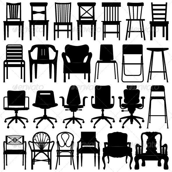 Chair Set Design in Silhouette