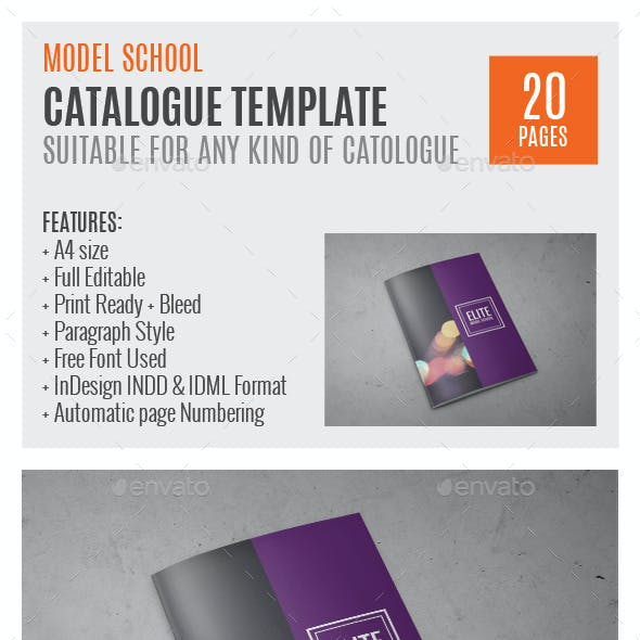 Model School A4 InDesign Catalog Template