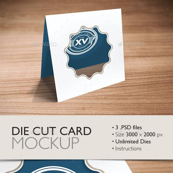Die Cut Card Mockup