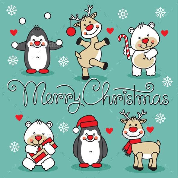 Merry Christmas Animals - Christmas Seasons/Holidays