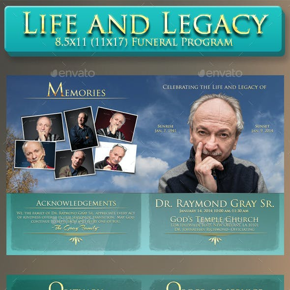 Life and Legacy Funeral Program