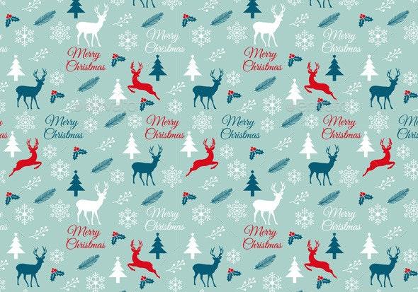 Seamless Christmas Pattern, Vector - Christmas Seasons/Holidays
