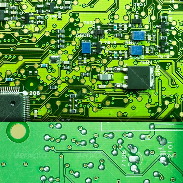 Electronic Printed Circuit Texture