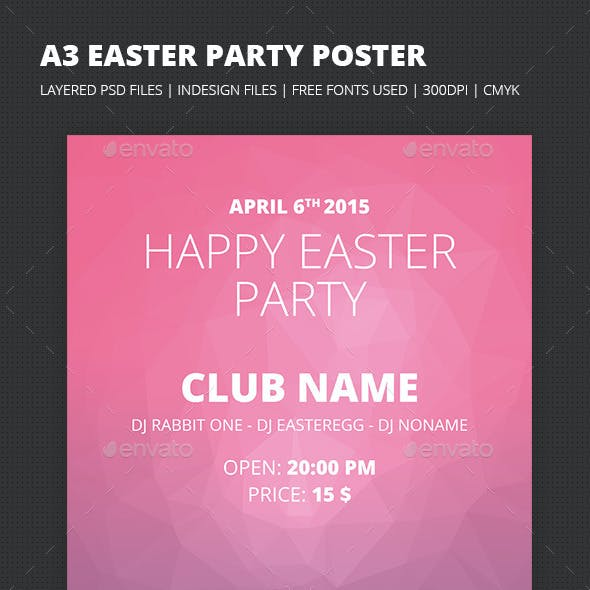 A3 Easter Party Poster