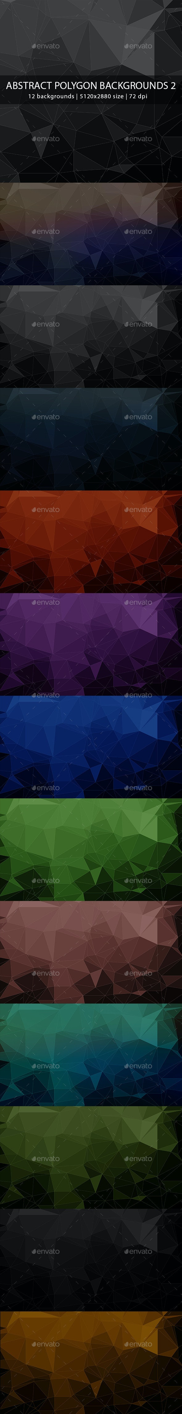 Abstract Polygon Backgrounds 2 - Abstract Backgrounds