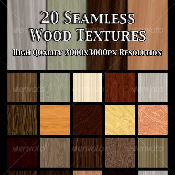 20 Seamless Wood Textures