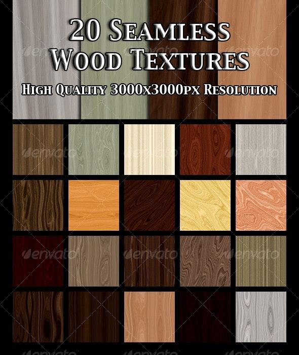 20 Seamless Wood Textures - Wood Textures