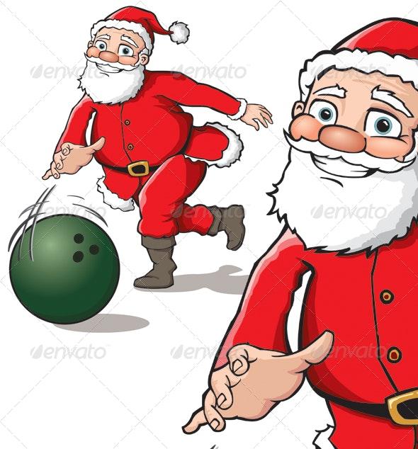 Santa Bowling - Christmas Seasons/Holidays