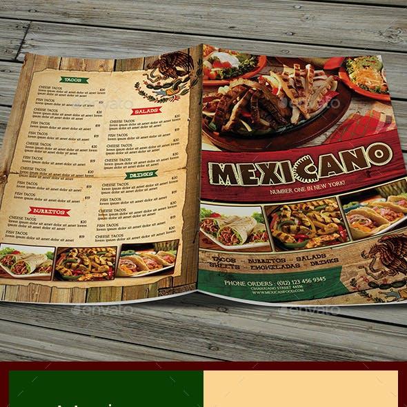 Mexican Menu (Bifold)