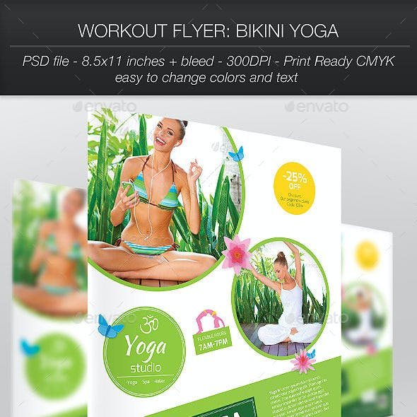 Workout Flyer: Bikini Yoga