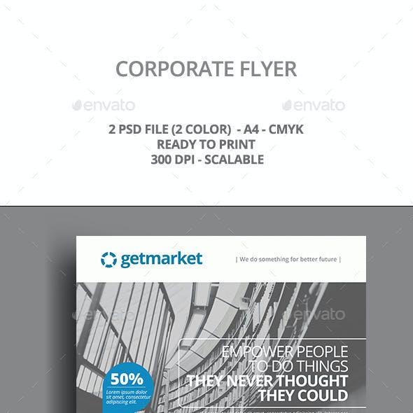 Simple Blue Corporate Flyer