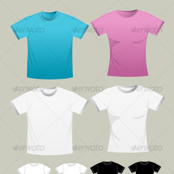 T-shirt Template (man and woman)