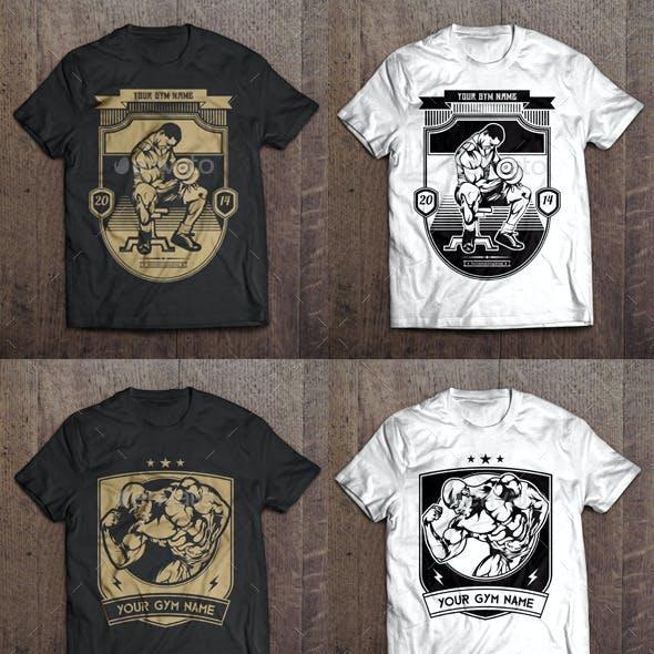 6 T-Shirt Template - Gym Theme
