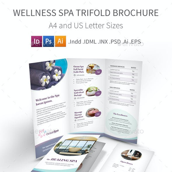 Wellness Spa Trifold Brochure