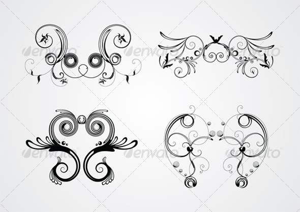 Swirls 1 - Flourishes / Swirls Decorative