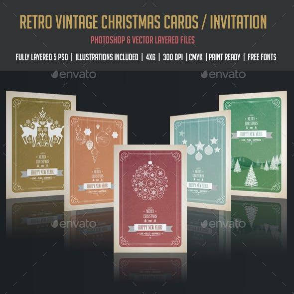 Vintage & Retro Christmas Cards / Invitation
